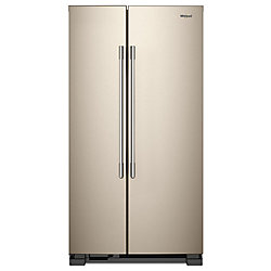 36-inch W 25 cu ft Side by Side Refrigerator in Fingerprint Resistant Sunset Bronze