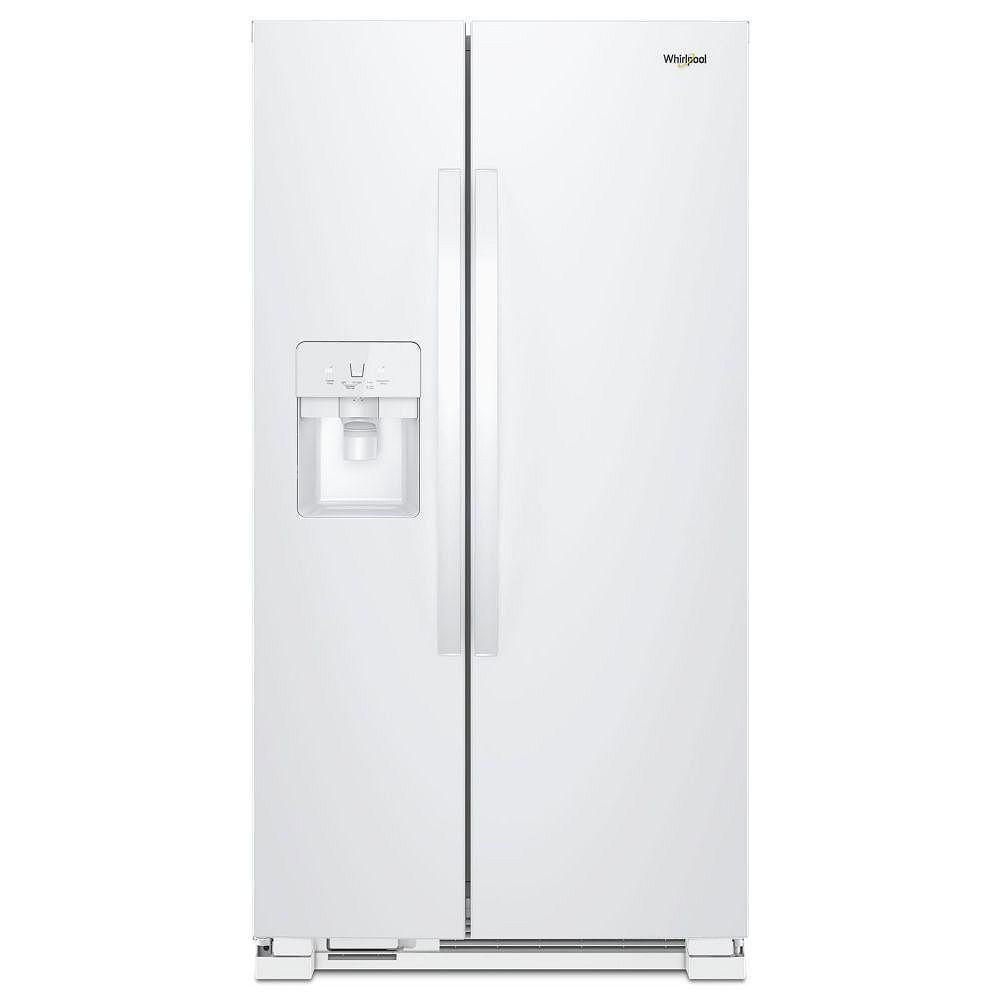 Whirlpool 33-inch W 21 cu. ft. Side by Side Refrigerator in White