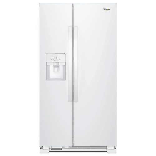 33-inch W 21 cu. ft. Side by Side Refrigerator in White