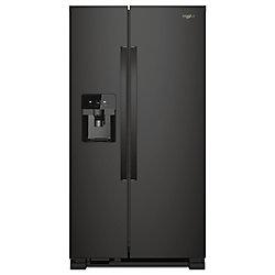 Réfrigérateur de 33 po W 21 pi. cu. côte à côte en noir