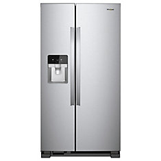 36-inch 24.49 cu. ft. Side-by-Side Refrigerator in Finger Print Resistant Stainless Steel