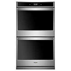 30-inch 10 cu. ft. Smart Double Electric Wall Oven with Convection in Stainless Steel