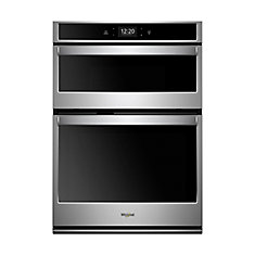 30-inch 6.4 cu. ft. Smart Double Wall Oven & Microwave with Touchscreen in Stainless Steel