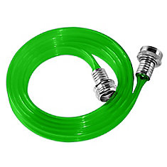 5/8-inch x 6 ft. Polyurethane Flat Female to Female Utility Hose in Green