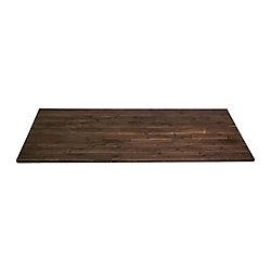 Home Decorators Collection 72-inch x 25.5-inch x 1-inch Acacia Wood Kitchen Countertop in Espresso
