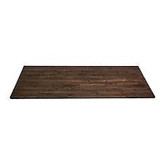 72-inch x 25.5-inch x 1-inch Acacia Wood Kitchen Countertop in Espresso