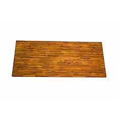 74-inch x 36-inch x 1-inch Acacia Wood Kitchen Island Countertop in Golden Teak