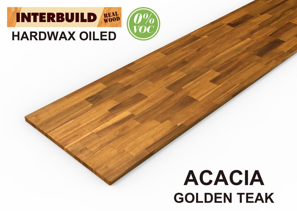 Home Decorators Collection 74-inch x 36-inch x 1-inch Acacia Wood Kitchen Island Countertop in Golden Teak