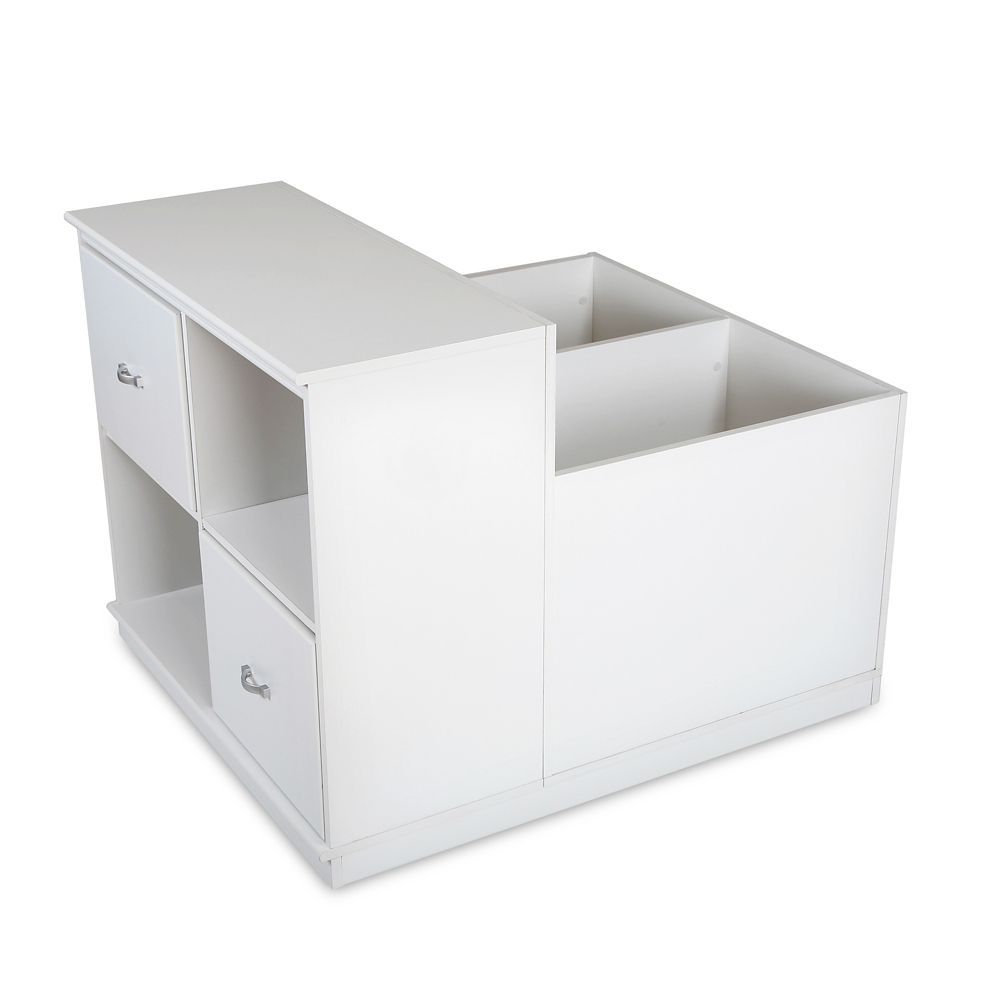 South Shore Mobby Mobile Storage Unit, Pure White