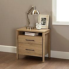 Table de chevet 2 tiroirs Gravity, Chêne rustique