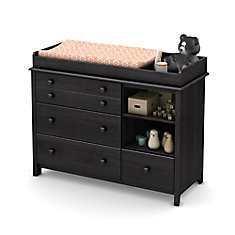 Little Smileys Changing Table with Removable Changing Station, Gray Oak