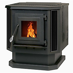 Englander 2,200 sq/ft Pellet Stove with Black Louvers