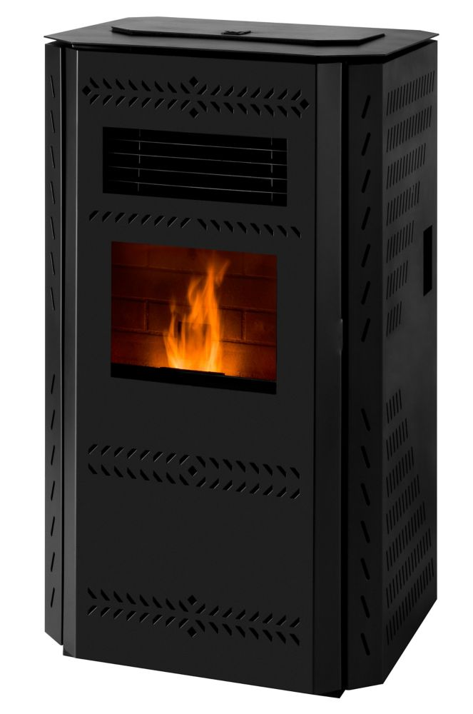 Englander Imperial 2,200 sq/ft Pellet Stove with Squared Panels