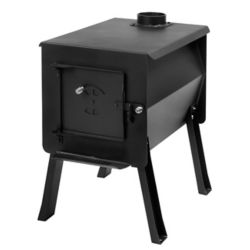 Survivor Lifestyle Products GRIZZLY - Portable Camp / Cook Wood Stove, 2.7 Cu. ft. Firebox