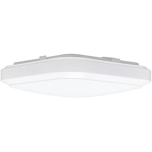 Hampton Bay 12 inch White Square LED Flush Mount Ceiling Light 1000 Lumens Dimmable 3000K 4000K 5000K