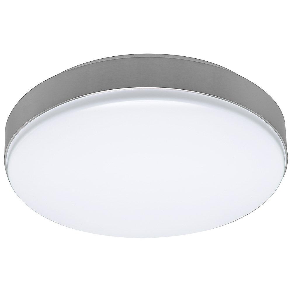New 7 Round Led Flush Mount Ceiling Light 4000k Kitchen: 15 Inch White Round LED Flush Mount Light Brushed Nickel