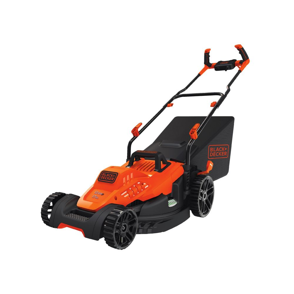 Black & Decker 12 amp 17-inch Electric Lawn Mower with Comfort Grip Handle