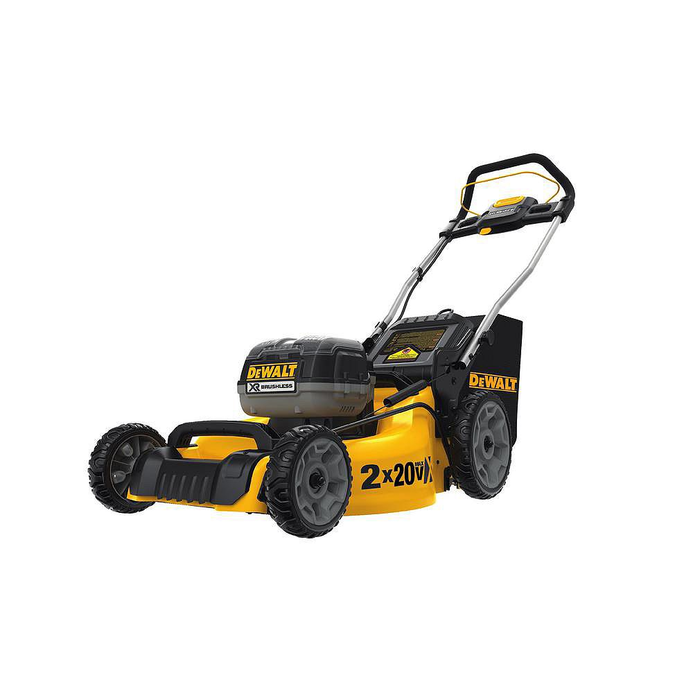 DEWALT 20-inch 20V MAX Li-Ion Cordless Walk Behind Push Lawn Mower - Two 5.0 Ah Batteries and Charger Included