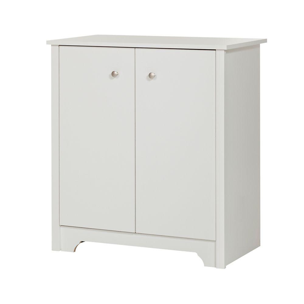 south shore petite armoire de rangement 2 portes vito. Black Bedroom Furniture Sets. Home Design Ideas