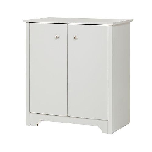 Vito Small 2-Door Storage Cabinet, Pure White