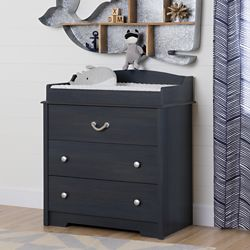South Shore Aviron Changing Table with Drawers, Blueberry