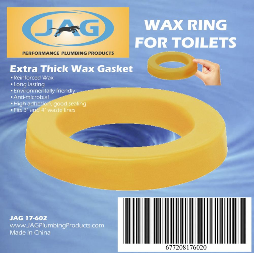 Jag Plumbing Products Jag for Plumbers-12 Pack Wax Gasket - Extra Thick