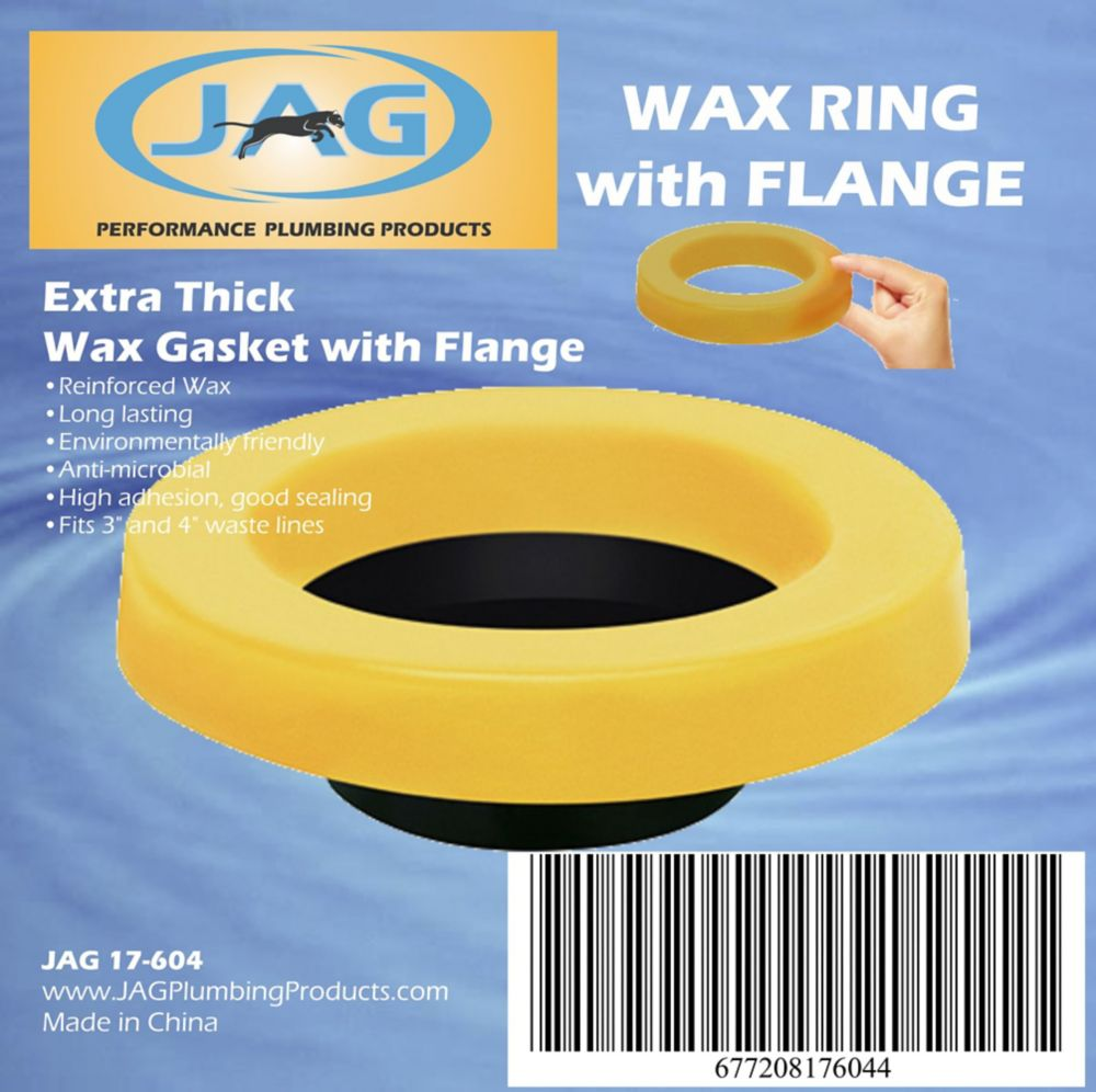 Jag Plumbing Products Jag for Plumbers-12 Pack Wax Gasket Extra Thick with Horn