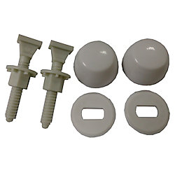 Jag Plumbing Products Jag for Plumbers Nylon Toilet Bolt Kits (Bolt, Caps, Washers and Nuts) (12-Pack)