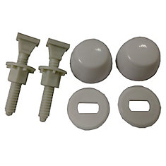 Jag for Plumbers-12 Pack Nylon Toilet Bolt Kits (Bolt, Caps, Washers and Nuts)