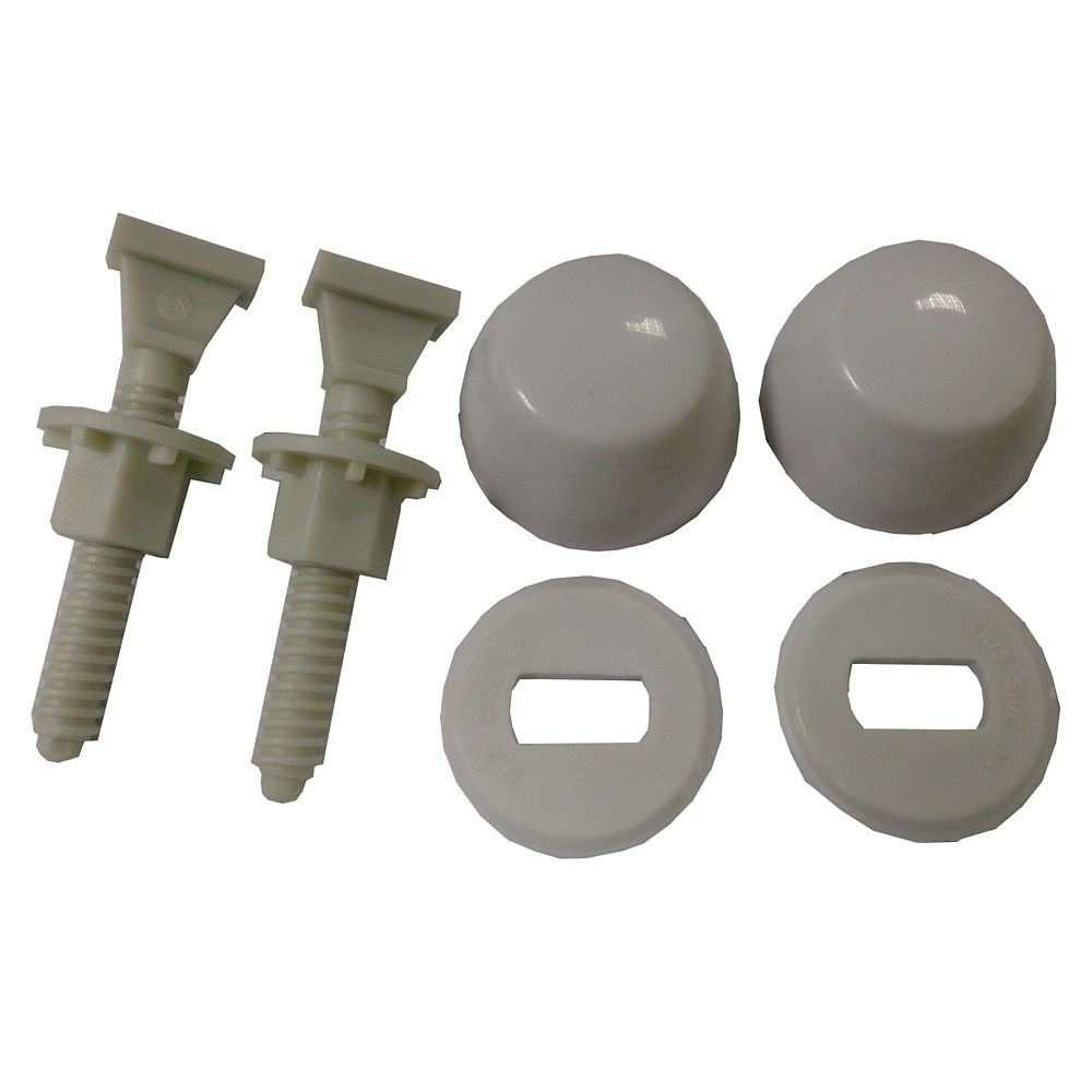 Jag Plumbing Products Jag for Plumbers-12 Pack Nylon Toilet Bolt Kits (Bolt, Caps, Washers and Nuts)