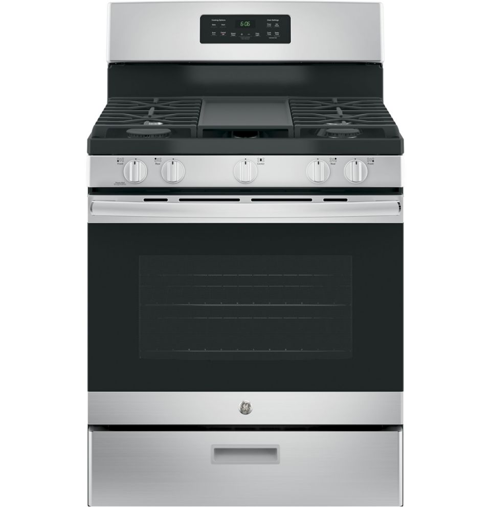 GE 5.0 Cu. Ft. Free-Standing Convection Gas Range With
