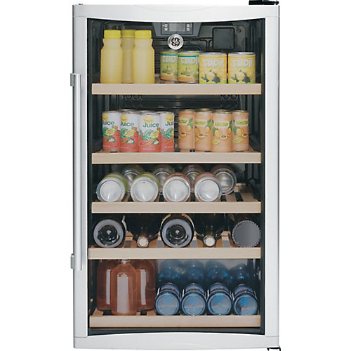 19-inch 4.1 cu. ft. Wine & Beverage Cooler with Glass Door in Stainless Steel