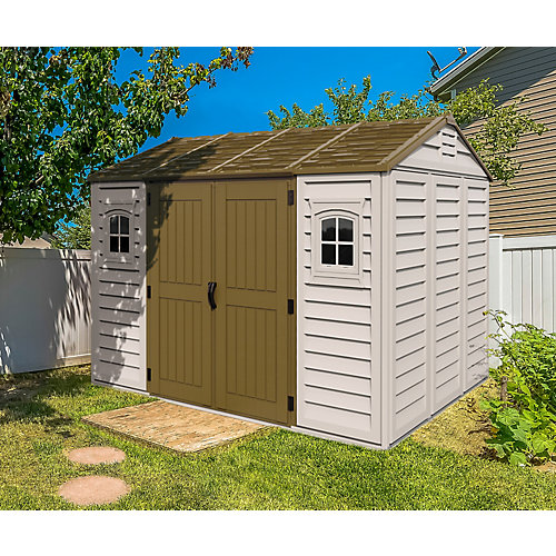 Apex 10.5 ft. x 8 ft. Fire-Retardant Vinyl Shed