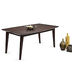 Draper -  Table d'époque 66x40po, rectangulaire pour salle à dîner