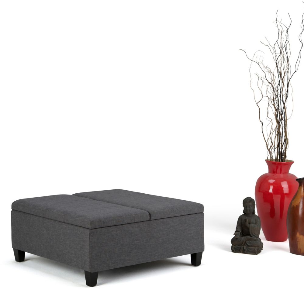 barrel storage and ottomans ottoman leather crate