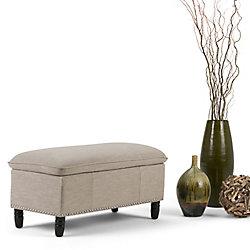 Simpli Home Emily Pillow Top Storage Ottoman Bench