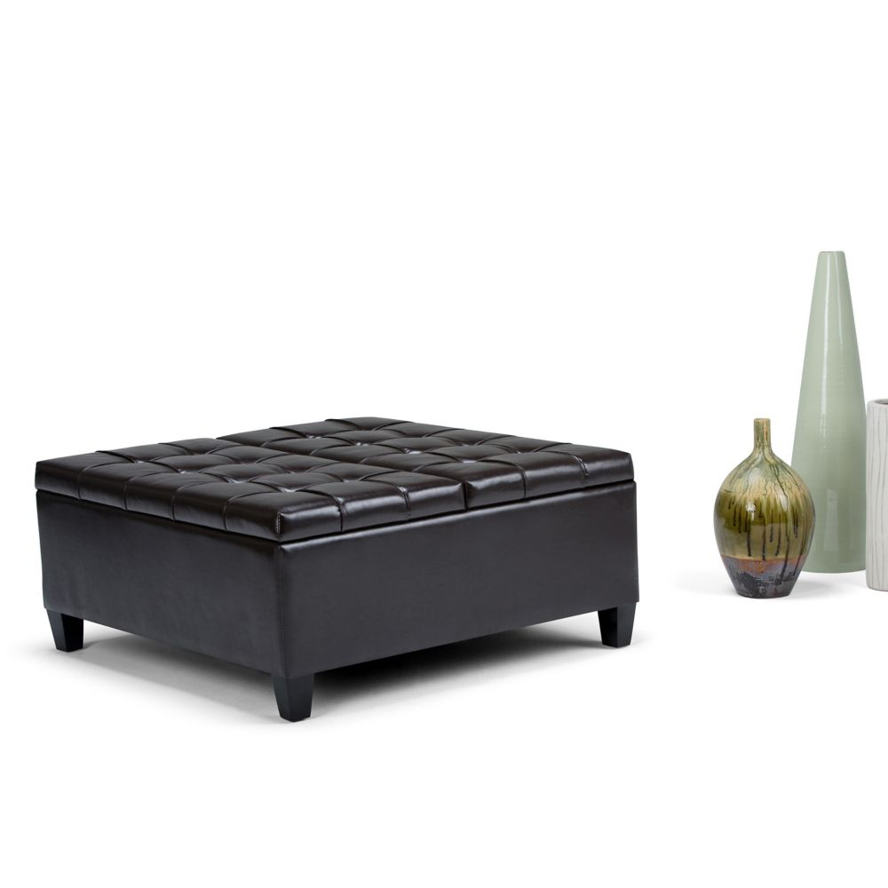 ottoman amazon dining rydbl modern keswick kitchen dark studio gray linen dp com baxton tufted