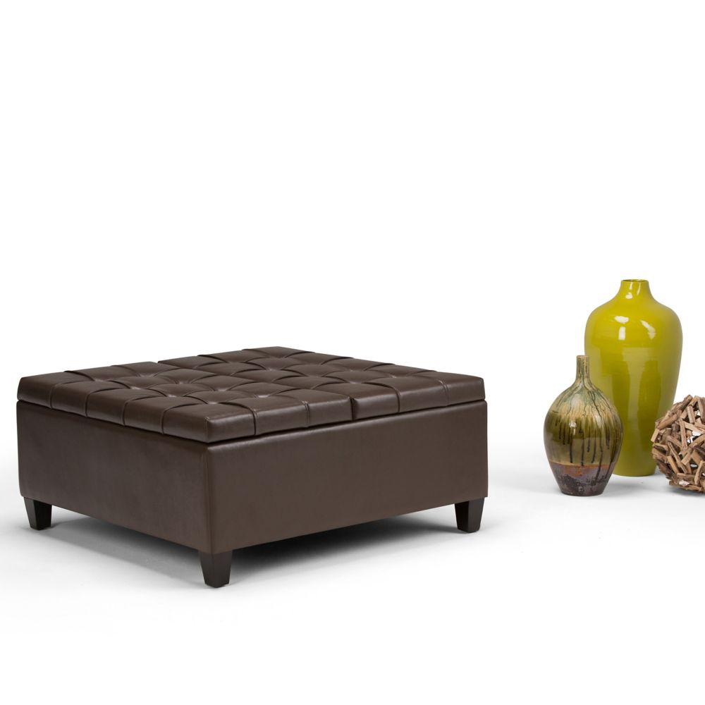 Ottoman Coffee Table With Storage Canada: Simpli Home Harrison Coffee Table Storage Ottoman