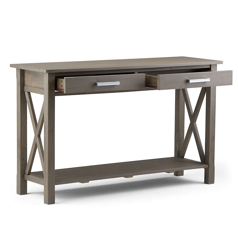 Simpli Home Kitchener Console Sofa Table The Home Depot