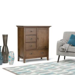 Simpli Home Redmond Medium Storage Cabinet