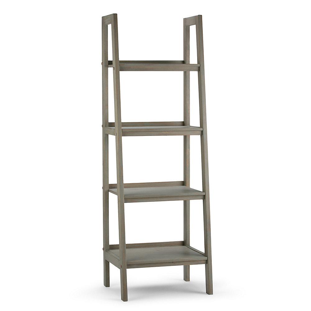 Brilliant 24 Inch X 72 Inch 4 Shelf Sawhorse Ladder Shelf Beutiful Home Inspiration Semekurdistantinfo