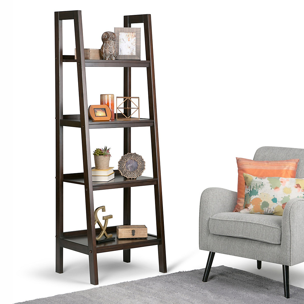 Excellent Sawhorse Ladder Shelf Beutiful Home Inspiration Semekurdistantinfo