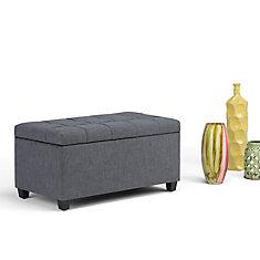 Sienna Storage Ottoman Bench in Dark Grey