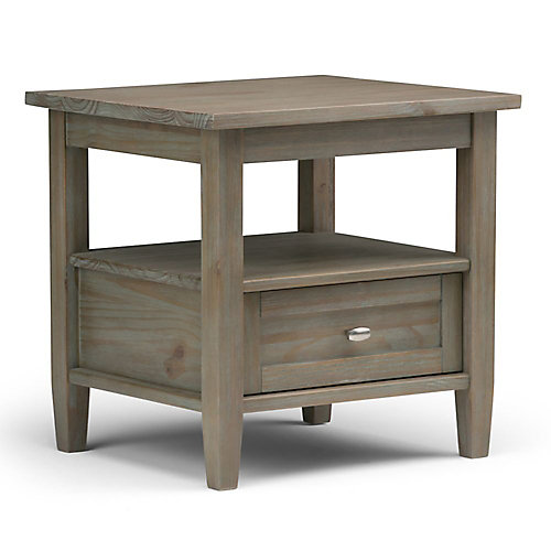 simpli home warm shaker end side table | the home depot canada