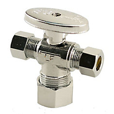 Jag Plumbing Packs -1/2 Inch FPT x 3/8 Inch x 3/8 Inch COMP - Dual Outlet Shut off (2 -pack)