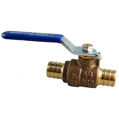 Packs de plomberie par JAG- 3/4 po PEX Soupape à bille en laiton (400 AHG) (2 unités)