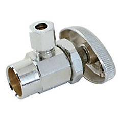 Jag Plumbing Packs - 1/2 Inch C x 1/4 Inch COMP Shut off Valve (2 -pack)