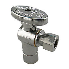 Jag Plumbing Packs -1/2 Inch C x 3/8 Inch COMP Shut off Valve (2 -pack)