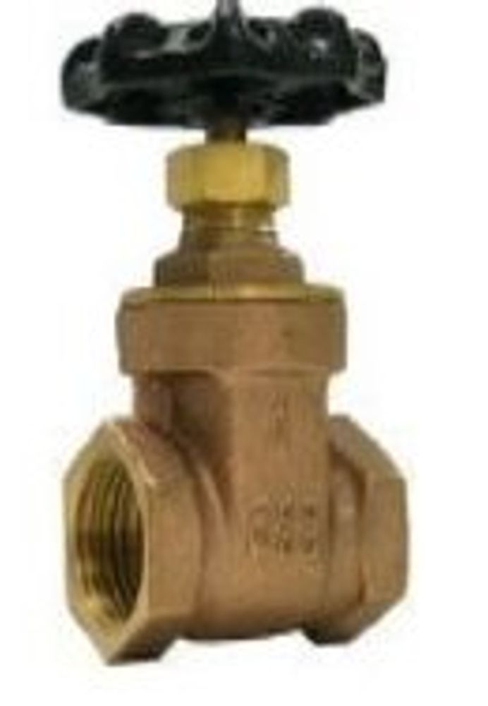 Boshart Canada Jag Plumbing Packs -3/8 InchFPT Brass Gate Valve 200 WOG - (2 -pack)