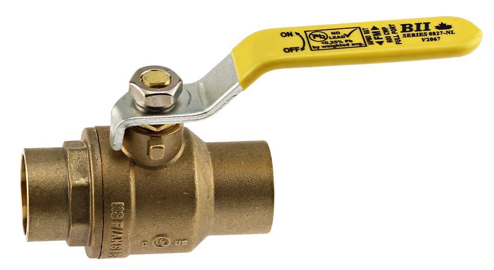 Boshart Canada Jag Plumbing Packs - 1/2 Inch C x C Brass Ball Valve (2 -pack)